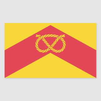 Flag of Staffordshire Rectangular Sticker