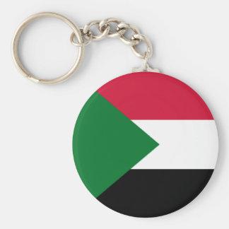 Flag of Sudan Basic Round Button Key Ring