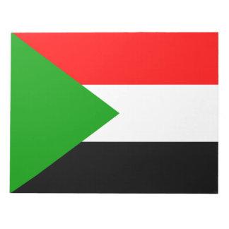 Flag of Sudan Memo Note Pad