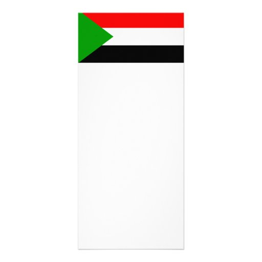 Flag of Sudan Personalized Rack Card