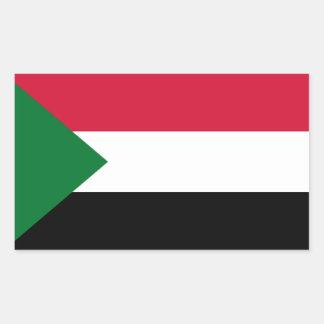 Flag of Sudan Rectangular Sticker