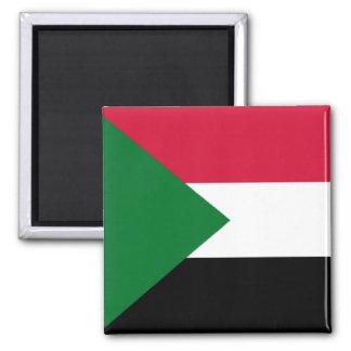Flag of Sudan Square Magnet