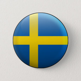 Flag of Sweden 6 Cm Round Badge