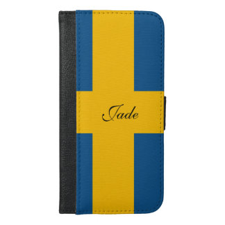 Flag of Sweden iPhone 6/6s Plus Wallet Case