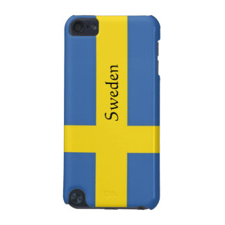 Flag of Sweden-Personalize Text iPod Touch 5G Covers