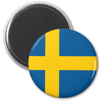 Flag of Sweden Round Magnet