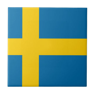 Flag of Sweden Small Square Tile