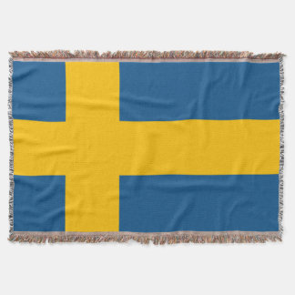 Flag of Sweden Throw Blanket