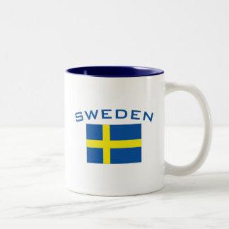 Flag of Sweden Two-Tone Coffee Mug