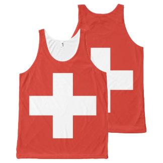 Flag of Switzerland All-Over Print Singlet