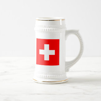 Flag of Switzerland Beer Stein