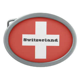 Flag of Switzerland Belt Buckle