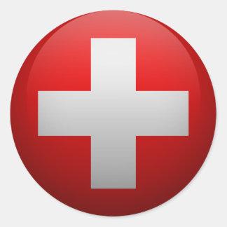 Flag of Switzerland Classic Round Sticker