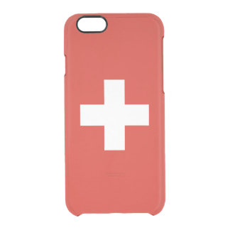 Flag of Switzerland Clear iPhone Case