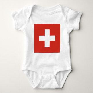 Flag of Switzerland - Die Nationalflagge der Schwe Baby Bodysuit