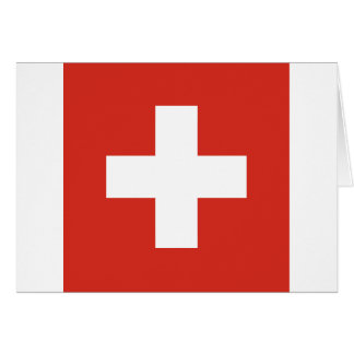 Flag of Switzerland - Die Nationalflagge der Schwe Card