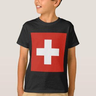 Flag of Switzerland - Die Nationalflagge der Schwe T-Shirt
