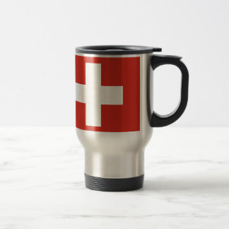 Flag of Switzerland - Die Nationalflagge der Schwe Travel Mug