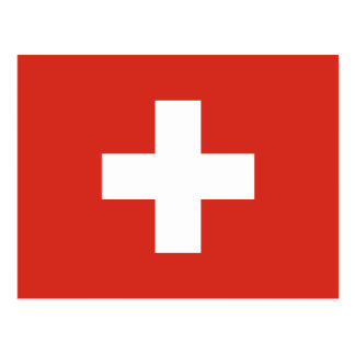 Flag of Switzerland Die Nationalflagge der Schweiz Postcard