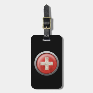 Flag of Switzerland Disc Luggage Tag