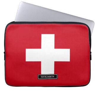 Flag of Switzerland Laptop Sleeve