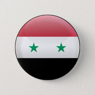 Flag of Syria 6 Cm Round Badge