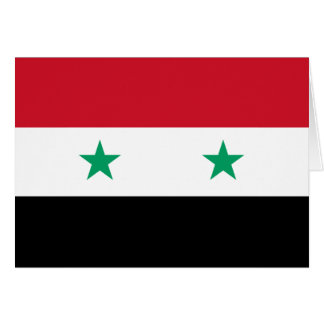 Flag of Syria Note Card