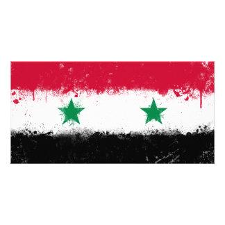 Flag of Syria Customized Photo Card