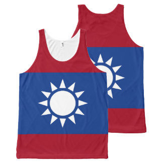 Flag of Taiwan Republic of China All-Over Print Singlet
