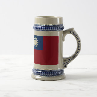 Flag of Taiwan Republic of China Beer Stein