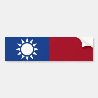 Flag of Taiwan Republic of China Bumper Sticker
