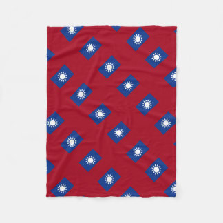 Flag of Taiwan Republic of China Fleece Blanket