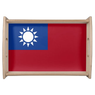 Flag of Taiwan Republic of China Serving Tray