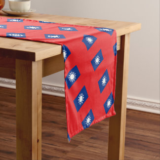 Flag of Taiwan Republic of China Short Table Runner