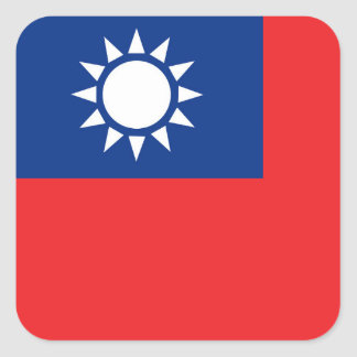 Flag of Taiwan Republic of China Square Sticker