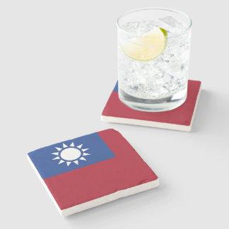 Flag of Taiwan Republic of China Stone Coaster