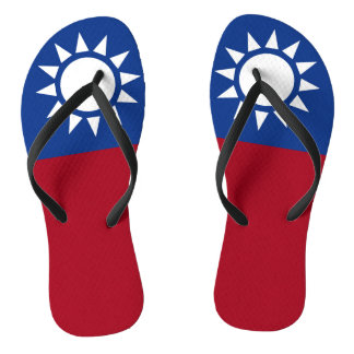 Flag of Taiwan Republic of China Thongs