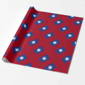 Flag of Taiwan Republic of China Wrapping Paper