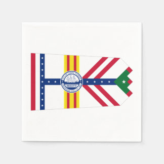 Flag of Tampa, Florida Disposable Serviette