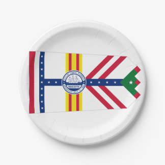 Flag of Tampa, Florida Paper Plate
