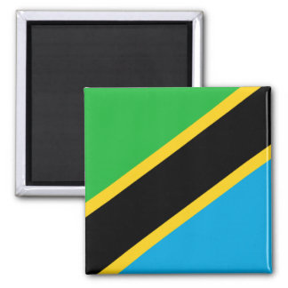Flag of Tanzania Square Magnet