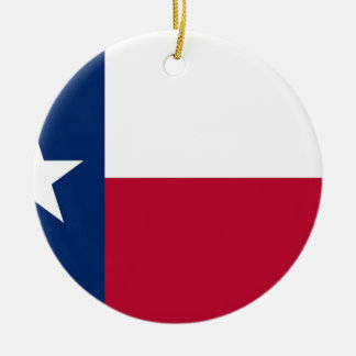 Flag of Texas Ceramic Ornament