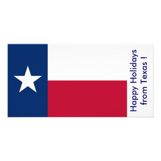 Flag of Texas, Happy Holidays from U.S.A. Photo Card