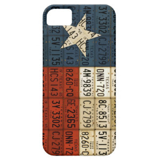 Flag of Texas Lone Star State License Plate Art iPhone 5 Cover