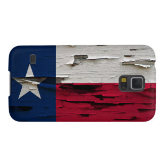 Flag of Texas Paint Peel Look Galaxy S5 Covers