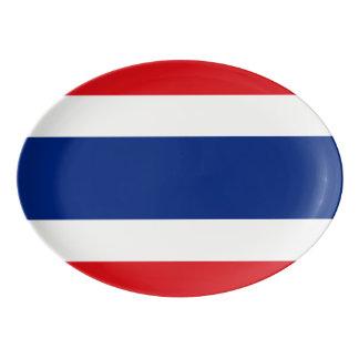 Flag of Thailand Porcelain Serving Platter