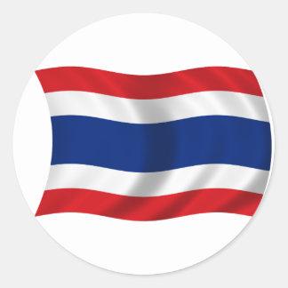 Flag of Thailand Round Stickers