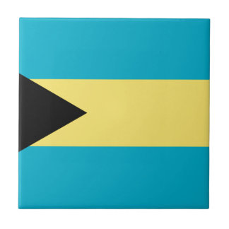 Flag of the Bahamas Small Square Tile