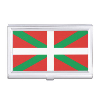 Flag of the Basque Country Business Card Holder