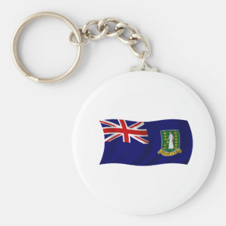 Flag of the British Virgin Islands Basic Round Button Key Ring